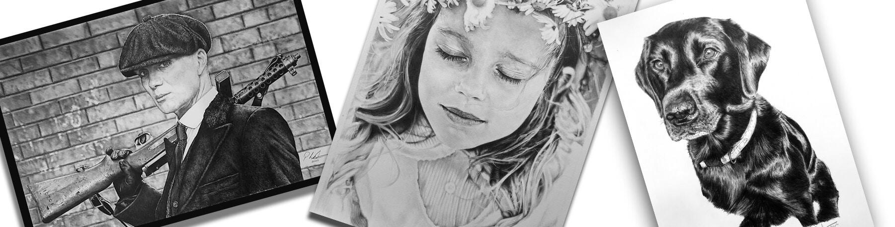 Pencil Portraits Drawings